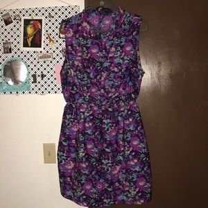 indulge Dresses - Purple print dress